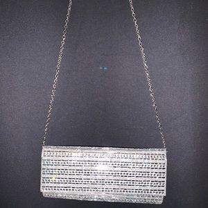 Silver Aldo Clutch Bag! (detachable chain)